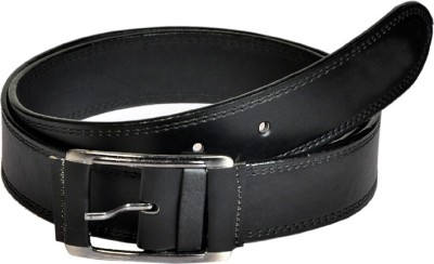 Swan Collection Boys, Girls Casual, Evening Black Artificial Leather Belt