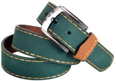 Drakemen Men Casual Green Artificial Leather Belt