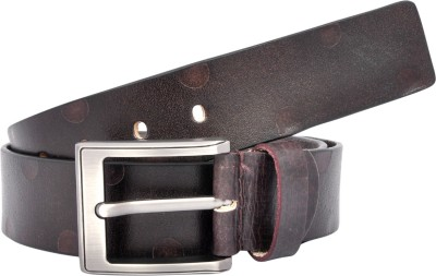 Leo Men Casual Black Genuine Leather Belt