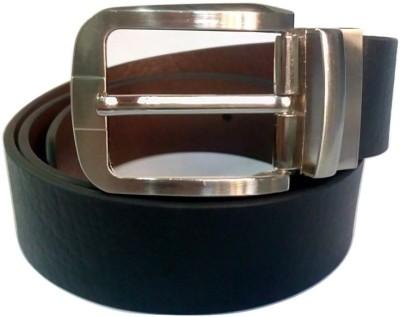 Coblivi Men Party, Formal Black Genuine Leather Reversible Belt