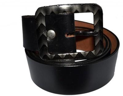 Cuero Men Casual, Formal Black Genuine Leather Belt