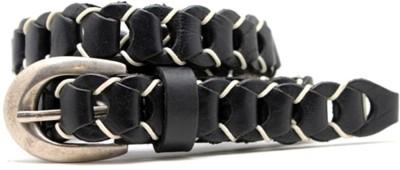 LaPalma Girls Casual Black Genuine Leather Belt