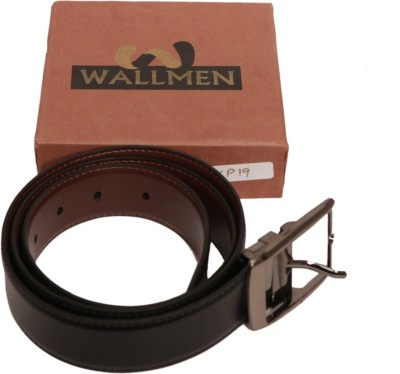 Wallmen Men, Boys Casual Black, Brown Artificial Leather Reversible Belt