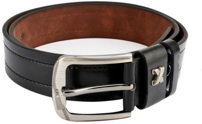 Swiss Design Men Casual Black Genuine Leather Belt