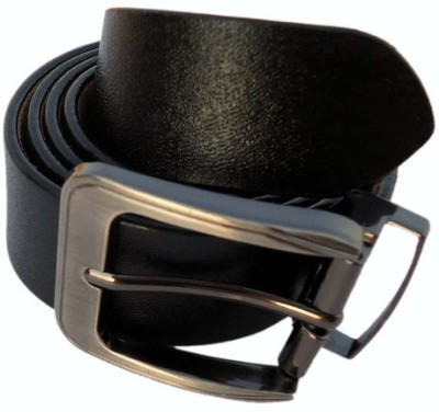 MMS Men Formal Black Genuine Leather Belt