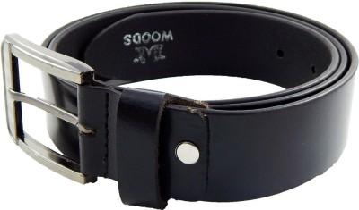 Woods Men, Boys Formal, Casual Black Genuine Leather Belt