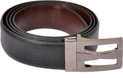 The Runner Men Formal Black Genuine Leather Reversible Belt