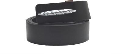 Drakemen Men Casual Black Genuine Leather Belt