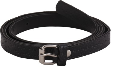 Mdr Collections Girls Casual Black Artificial Leather Belt