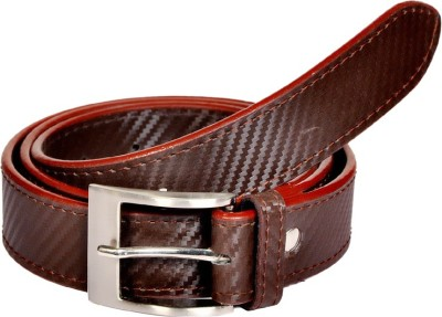 Swan Collection Men, Boys Casual, Formal, Evening Brown Artificial Leather Belt