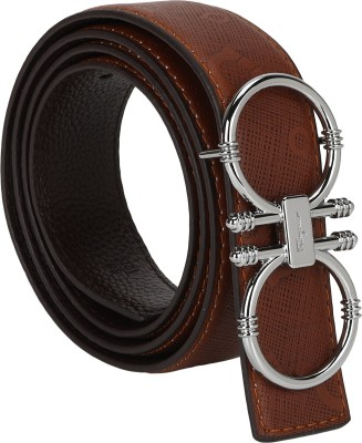 Jmb Men Casual Brown Genuine Leather Belt