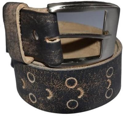 Cuero Men Casual Black, Beige Genuine Leather Belt