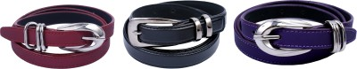 Contra Girls Black, Purple, Red Artificial Leather Belt
