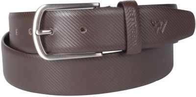 Wega Life Men, Boys Formal Brown Genuine Leather Belt