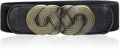 Calvino Women Casual, Formal Black Artificial Leather Belt