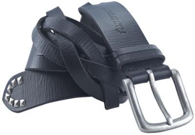 Fastrack Men Black Genuine Leather Belt