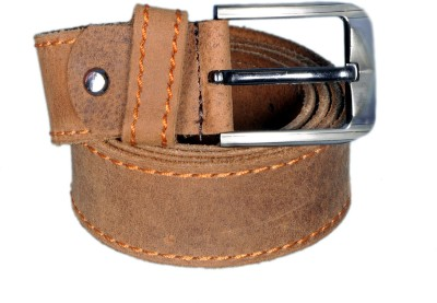 Mughals Men Beige Genuine Leather Belt