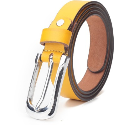 Chisel Women Casual Yellow Genuine Leather Belt