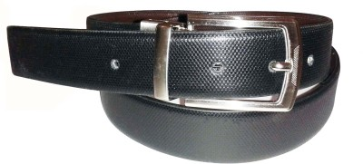 Sanshul Men Black Genuine Leather Belt