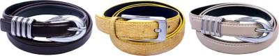 Contra Girls Yellow, Khaki, Tan Artificial Leather Belt