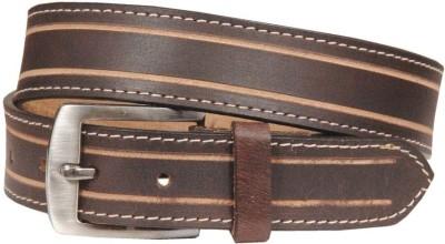 Swastika Men Casual Brown Genuine Leather Belt
