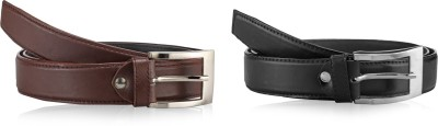 Allura Men Evening, Party, Casual, Formal Brown, Black Synthetic Belt