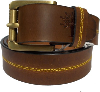 Ahsan Boys, Men Formal, Casual Tan Genuine Leather Belt
