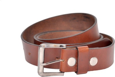 Bullstop Men, Boys Tan Genuine Leather Belt
