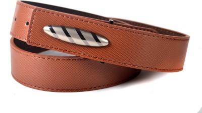 Drakemen Men Casual, Formal Brown Genuine Leather Belt