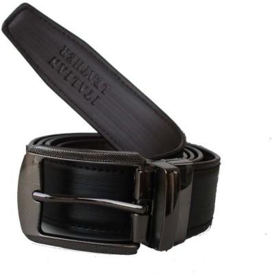 Klaska Men Formal Black Artificial Leather Reversible Belt