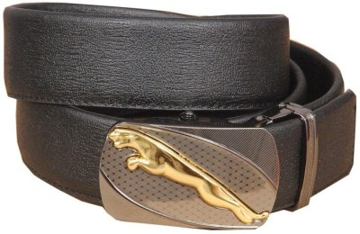 Swastika Men Formal Black Genuine Leather Belt