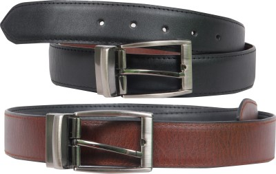 Poliss Men, Women Formal, Casual Black, Brown Artificial Leather Reversible Belt