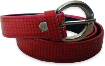 Rege Women Casual Red Artificial Leather Belt