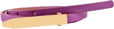 Antiformal Women Party, Casual Purple Artificial Leather Belt