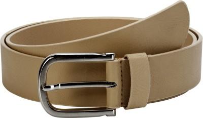 Orkee Men Casual Beige Artificial Leather Belt