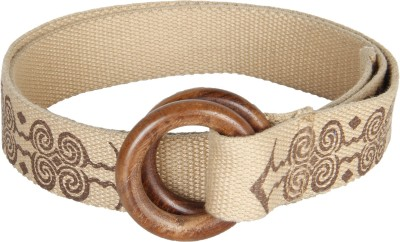 Anekaant Women Casual Beige Fabric Belt