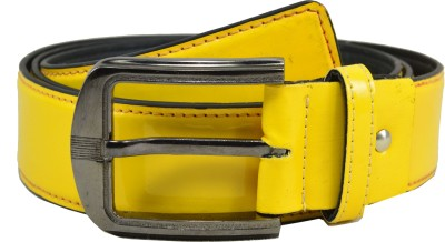 Opaque Men Formal Yellow Artificial Leather Belt