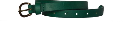 Vickiana Quest Girls, Women Casual, Formal Green Genuine Leather Belt