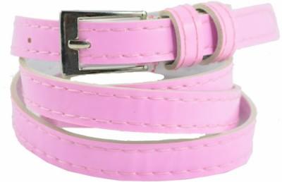 Antiformal Women Casual Pink Fabric, Genuine Leather Belt