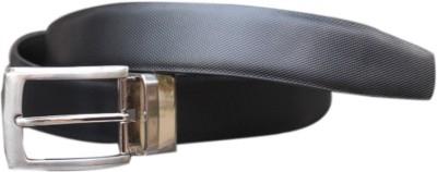 Winsome Deal Men Formal Black Genuine Leather Reversible Belt
