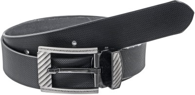 Elsker Boys, Men Casual, Evening, Party, Formal Black Genuine Leather Belt