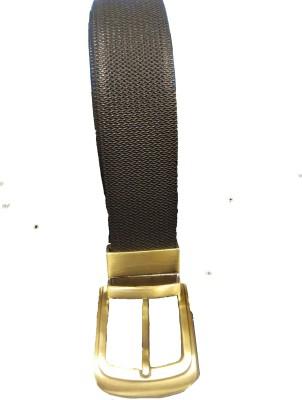 Leather Mall Men Black Genuine Leather Belt