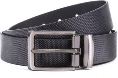 Ruchiworld Boys, Men Formal Black Artificial Leather, Genuine Leather Belt