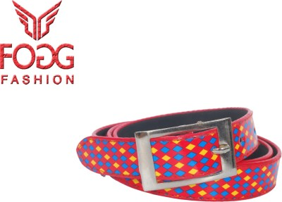 Fogg Fashion Store Women, Girls Casual, Formal Red Artificial Leather Belt