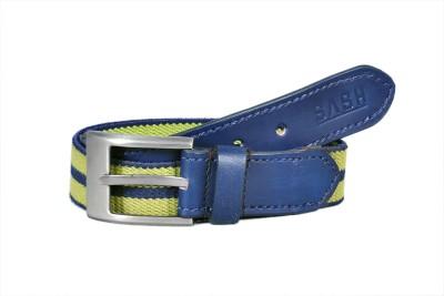 Sash Men Casual Blue, Green Genuine Leather, Canvas Belt