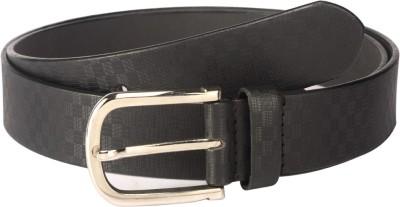Orkee Men Formal Black Artificial Leather Belt