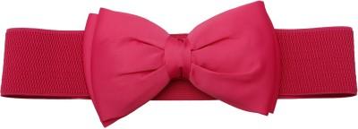 Stylehoops Girls, Women Party Pink Artificial Leather Belt