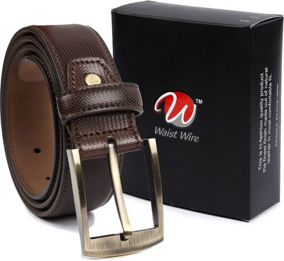 Waist Wire Men Formal Brown Artificial Leather Belt