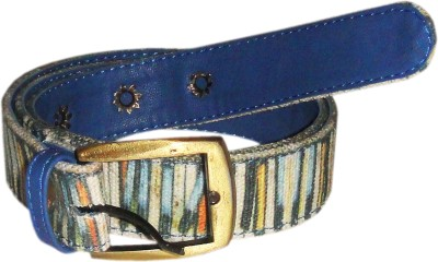 JAJV Women Casual Blue Canvas Belt
