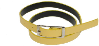 Bs Spy Women Casual Yellow Artificial Leather Belt